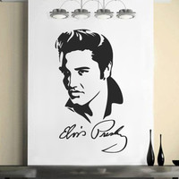 Medium ELVIS PRESLEY vinyl wall art, sticker, decal,  580mm(h) x 338mm(w)