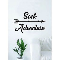 Seek Adventure Arrow Quote Wall Decal Sticker Bedroom Living Room Art Vinyl Beautiful Inspirational Travel Explore Mountains Wanderlust