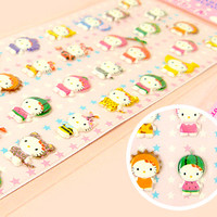 Buy Sanrio Hello Kitty Kigurumi Fruit & Animal Sponge Stickers at Tofu Cute