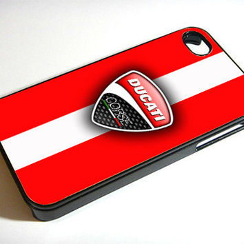 Ducati Corse Red Skin - Print on iPhone 4/4s Case - iPhone 5 Case - Samsung Galaxy S3 - Samsung Galaxy S4