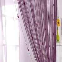 Door Window Panel Divider Room String Curtain Decorative With 3 Beads Hot New