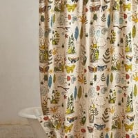 Entomology Shower Curtain in  One Size Size Bedding by Anthropologie