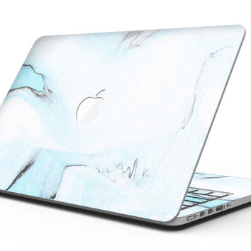 Mixtured Blue 99 Textured Marble - MacBook Pro with Retina Display Full-Coverage Skin Kit
