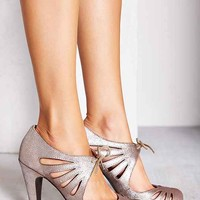 Seychelles Brave Lace-Up Heel- Silver