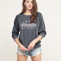 A&F Embroidered Logo Graphic Sweatshirt