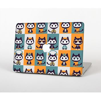The Retro Cats with Accessories Skin Set for the Apple MacBook Air 13""