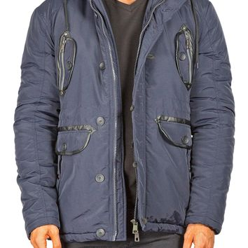 174202 - Navy Hooded Field Jacket