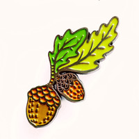 Little Acorn Enamel Pin - Oak Enamel Pin - Acorn Pin Acorn Brooch by boygirlparty