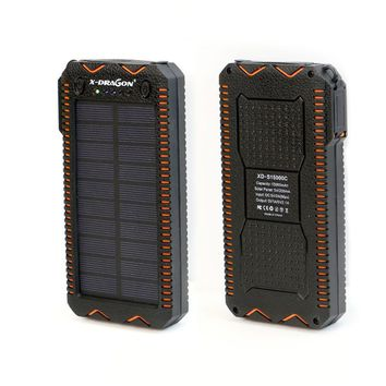 Waterproof Solar Panel LED Torch, Cigarette Lighter and Battery Pack