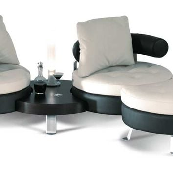 Sectional upholstered leather sofa ORIGINAL Moderno Collection by Formenti | design Mario Spinelli