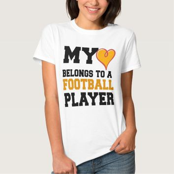 FOOTBALL GIRLFRIEND TEE SHIRT