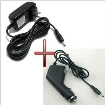 12v 1.5A AC / DC Power Supply  Adapter Wall  Charger + DC Car Adapter Charger For Acer Iconia Tab A500 A501 A100 A200