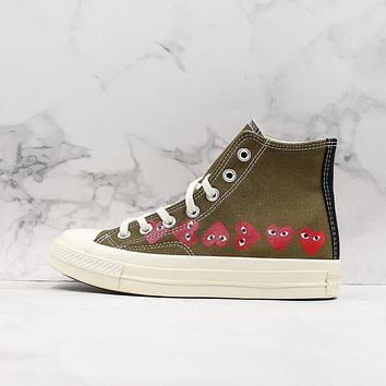 COMME des Gar?ons CDG Play x Converse All Star Chuck Taylor Hi-Top Canvas Sneaker