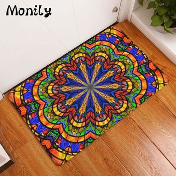 Autumn Fall welcome door mat doormat Monily Bohemia Waterproof Anti-Slip  India Hippe Flowers Carpets Bedroom Rugs Decorative Stair Mats Home Decor Crafts AT_76_7