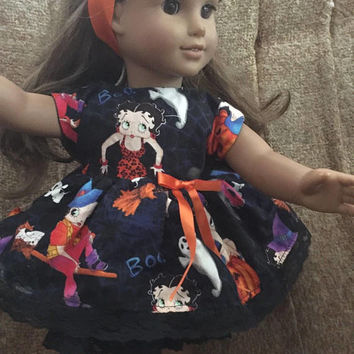 "Betty Boop Dress Halloween dress fits American Girl Doll 18"" inch dress"