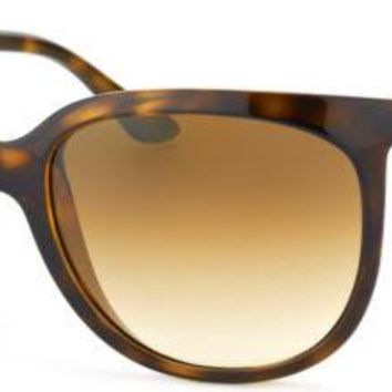 New Ray-Ban Cats 1000 RB 4126 710/51 Tortoise Plastic Sunglasses Brown Gradient