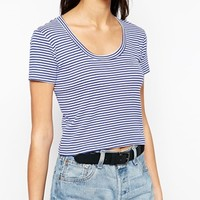 Brave Soul Cropped Scoop Neck T-Shirt