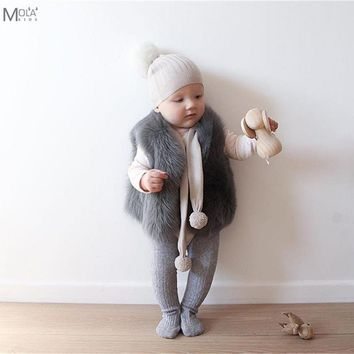 Baby Fur Coat Real Fur Clothes Infant Winter Vest Toddler Boys/Girl WInter Waistcoat Toddler faux Fur Vest Bobo Choses BEBE