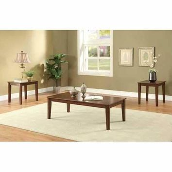 Marilla 3 Piece Pack Coffee and End Table Set in Cherry
