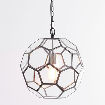 Clear Glass Geo Pendant