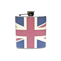 Union Jack British Flag Flask