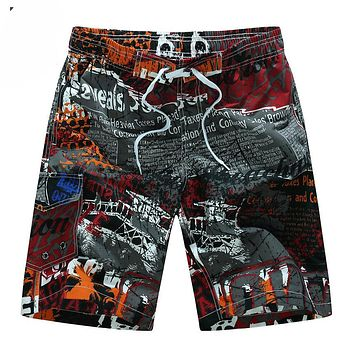 2017 Summer Hot Men Beach Shorts Quick Dry Printing Board Shorts Men