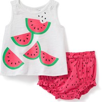 2-Piece Watermelon-Print Tank and Bloomer Set for Baby | Old Navy