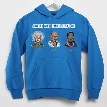 kanye west ,great men thru history populer hoodie for mens and women by USA