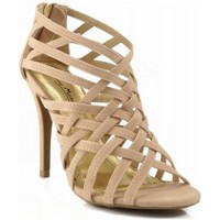 NEW Anne Michelle Enzo-15 Classic Open Toe Strappy Sandal Stiletto Pumps NUDE