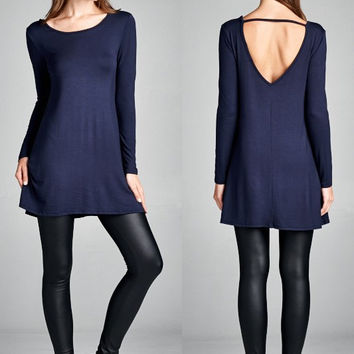 Tunic Dress with Open Strap Back