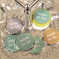 Mint To Be Wedding Favors Labels fits Mint Patties Bridal Shower Round Stickers Candy Decorations