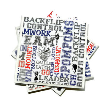 Cheerleading  Coasters, Cheerleading Ceramic Coasters