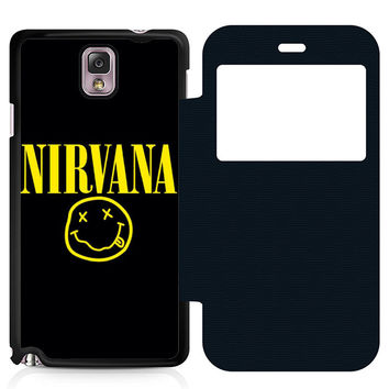 Nirvana Leather Wallet Flip Case Samsung Galaxy Note 3