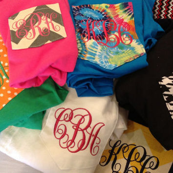 Monogram pocket T Shirts