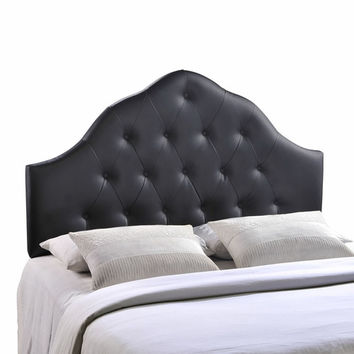 Sovereign Queen Vinyl Headboard Black