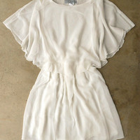 Whispering Bliss Dress in White [4158] - $36.00 : Vintage Inspired Clothing & Affordable Summer Frocks, deloom   Modern. Vintage. Crafted.
