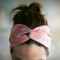 Hippie Turban Twist Headband - coral