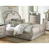 Homelegance Palace II Bed In Antique White Wash