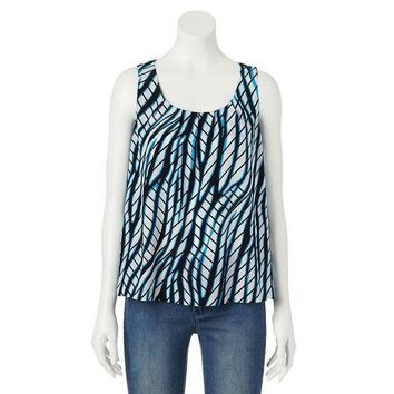 Dana Buchman Printed Pleated Tank   Women's Size: