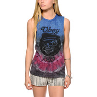 Obey Devious Scumbags Tie Dye Muscle Tee