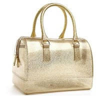 Fashion Contrast Color Crystal Jelly Handbag