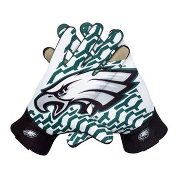 Nike Philadelphia Eagles Stadium Gloves - Black