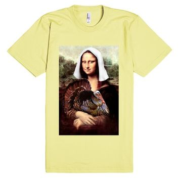 Mona Lisa Thanksgiving Pilgrim | T-Shirt | SKREENED