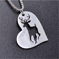 10pcs/lot Hollow Elk Pattern Necklace Lucy Rudolph's Deer Pendant Choker Necklace for Women Christmas Gifts