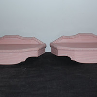 Pair of light pink Burwood shelves, girls room, baby gift, nursery, pink decor