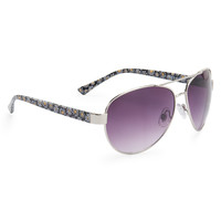Aeropostale  Printed Metal Aviator Sunglasses