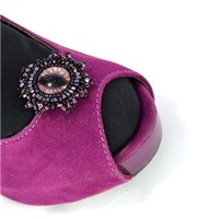 Maroon Cat Eye Shoe Clips