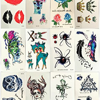 12 Premium Sheets-love Nest Metallic Flash Gold and Silver Bling Waterproof,botanical Custom Temporary Tattoos Sticker for Men Woman Kids/ for Glass Vase Decoration Spray Waterproof Stickers Design S7