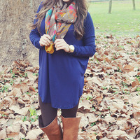 Piko Boo Tunic: Navy Blue