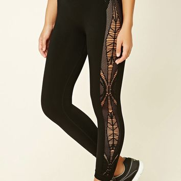 Active Ornate Cutout Leggings